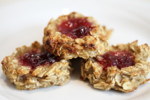 3-Ingredient Banana Oat Thumbprint Cookies - Vegan and Gluten-Free