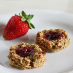 3-Ingredient Banana Oat Thumbprint Cookies