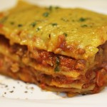 Lasagna with soya granules