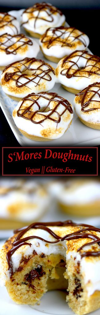 S'Mores Doughnuts - Vegan and Gluten-Free