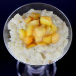 Rice Pudding with Cinnamon Apple Topping