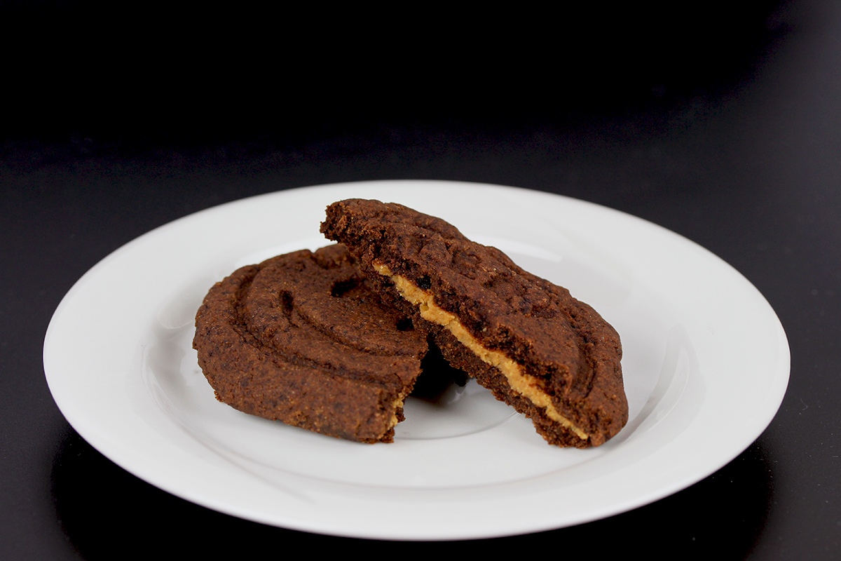 Vegan, Gluten-Free Chocolate Peanut Butter Stuffed Cookies